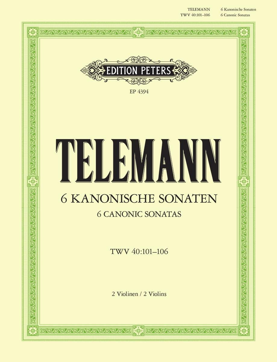 TELEMANN - 6 kanonische Sonaten - Partition - di-arezzo.fr