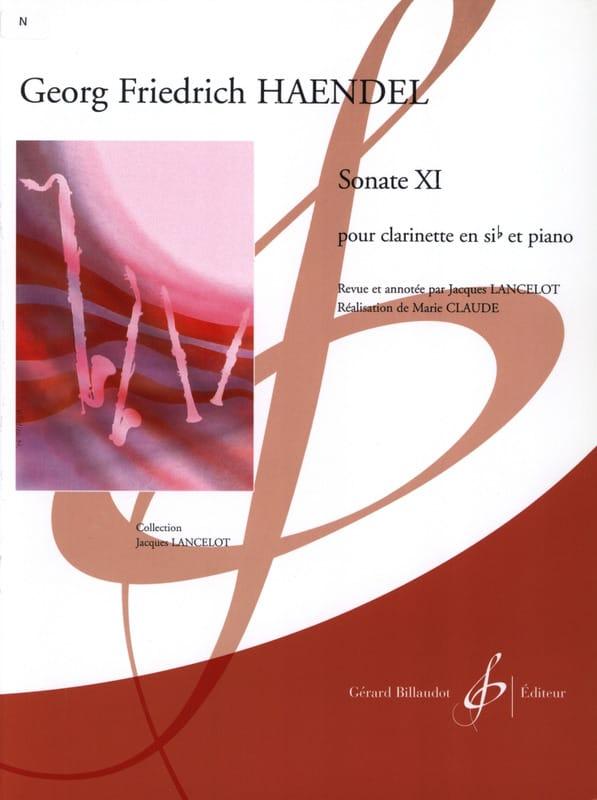 HAENDEL - Sonata Xl - Clarinete - Partition - di-arezzo.es