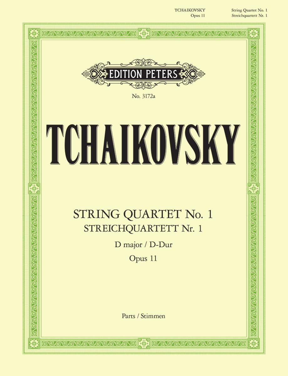 TCHAIKOVSKY - String Quartet in D major Op. 11 - Instrumental parts - Partition - di-arezzo.co.uk