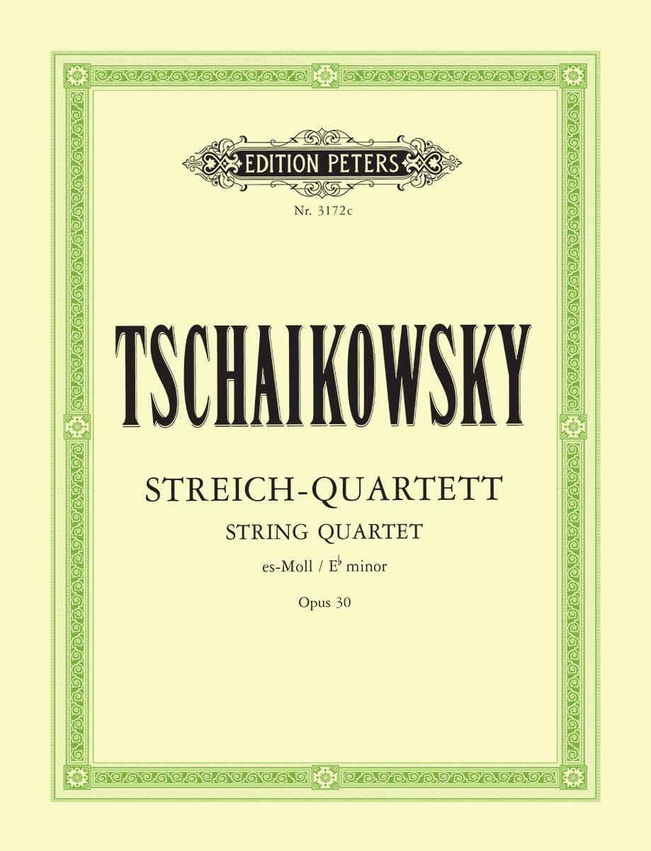 TCHAIKOVSKY - Major String Quartet Op. 30 - Parts - Partition - di-arezzo.co.uk