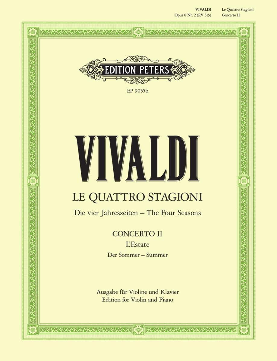 Concerto L'Estate op. 8 n° 2 RV 315 - VIVALDI - laflutedepan.com