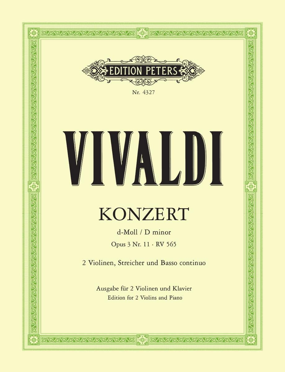 VIVALDI - Konzert D-Moll Op. 3 No. 11 Rv 565 - Partition - di-arezzo.co.uk