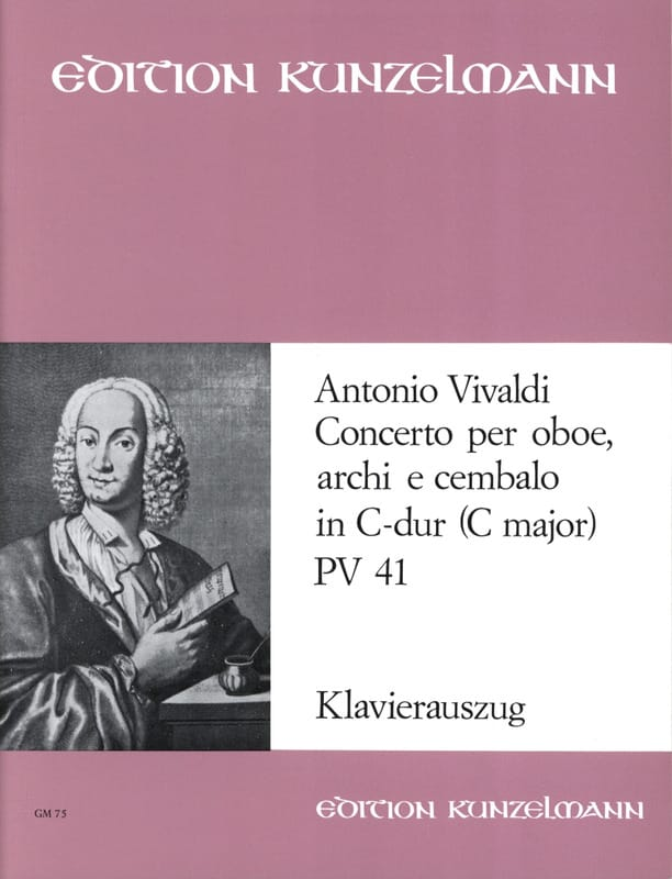 VIVALDI - Concerto for oboe in C-Dur PV 41 F. 7 No. 6 - Oboe Klavier - Partition - di-arezzo.co.uk