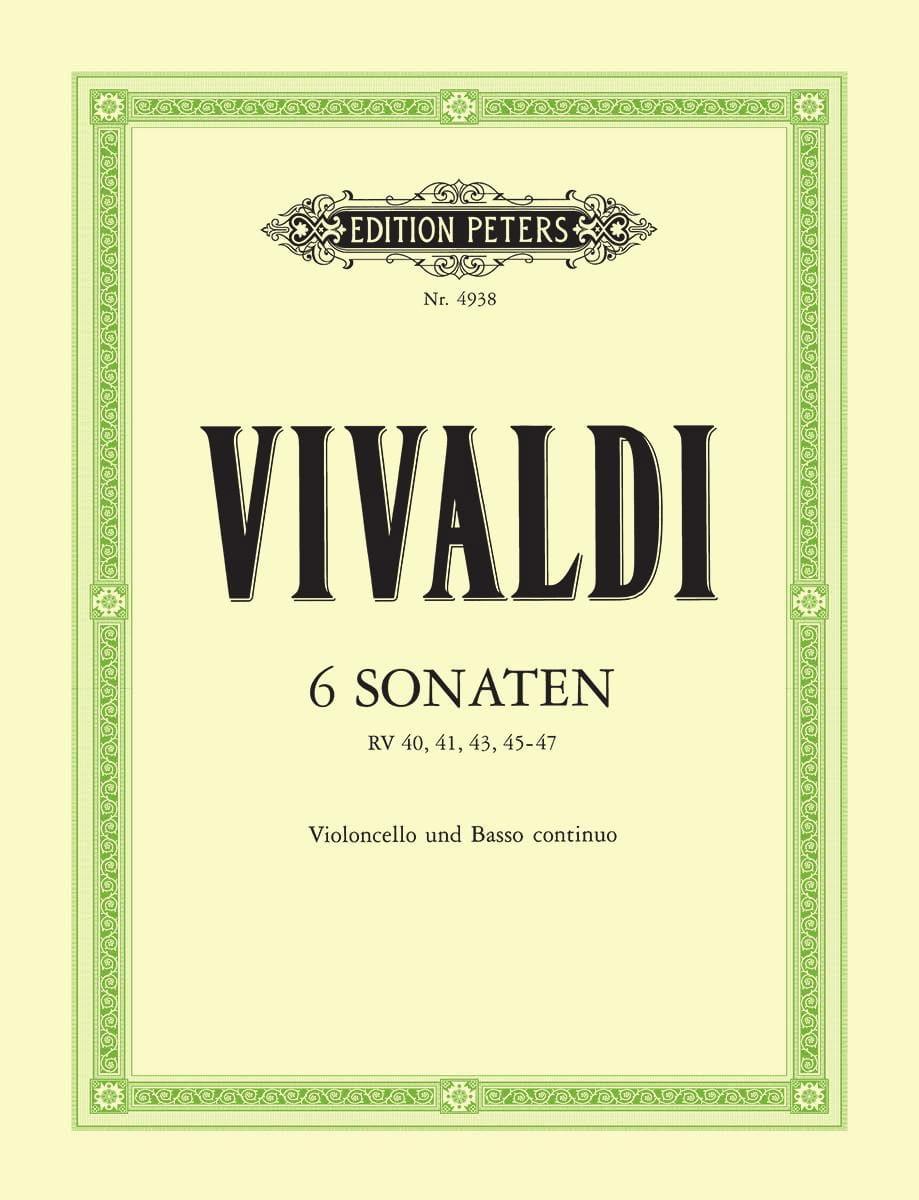 VIVALDI - 6 Sonaten - Cello - Partition - di-arezzo.com