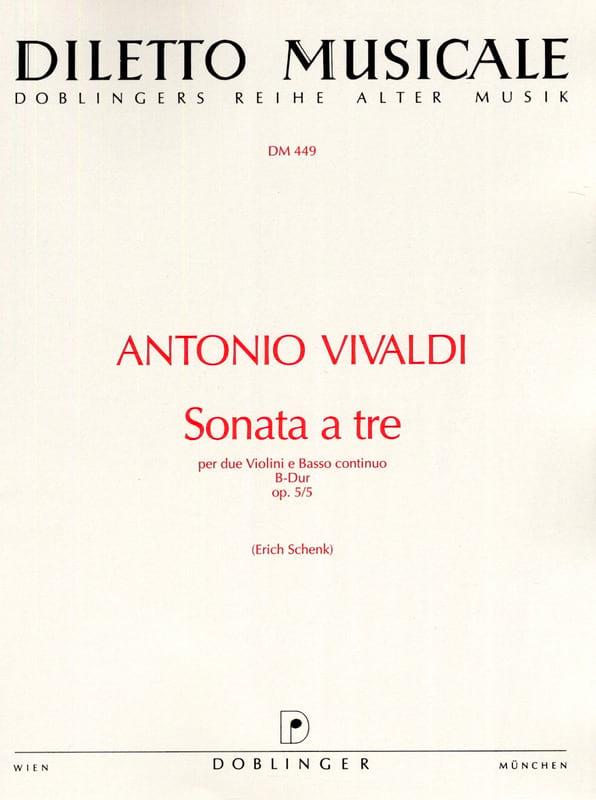 Sonata a tre B-Dur op. 5 n° 5 - VIVALDI - Partition - laflutedepan.com