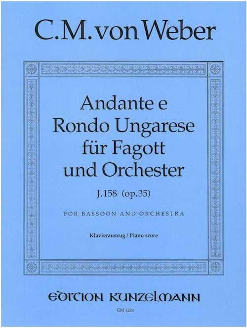 Carl Maria von Weber - Andante e Rondo ungarese op. 35 - Fagott Klavier - Partition - di-arezzo.com