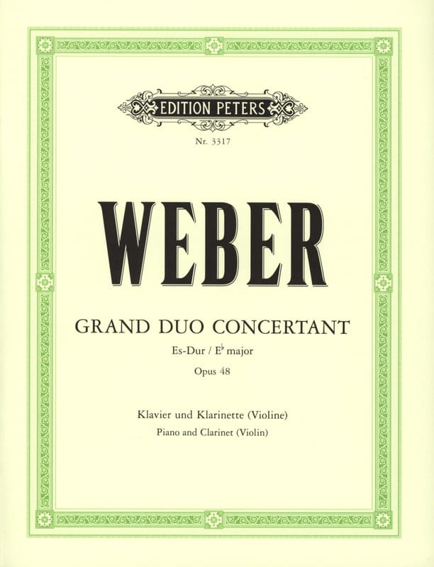 Carl Maria von Weber - Grand concerting duo op. 48 - Partition - di-arezzo.com