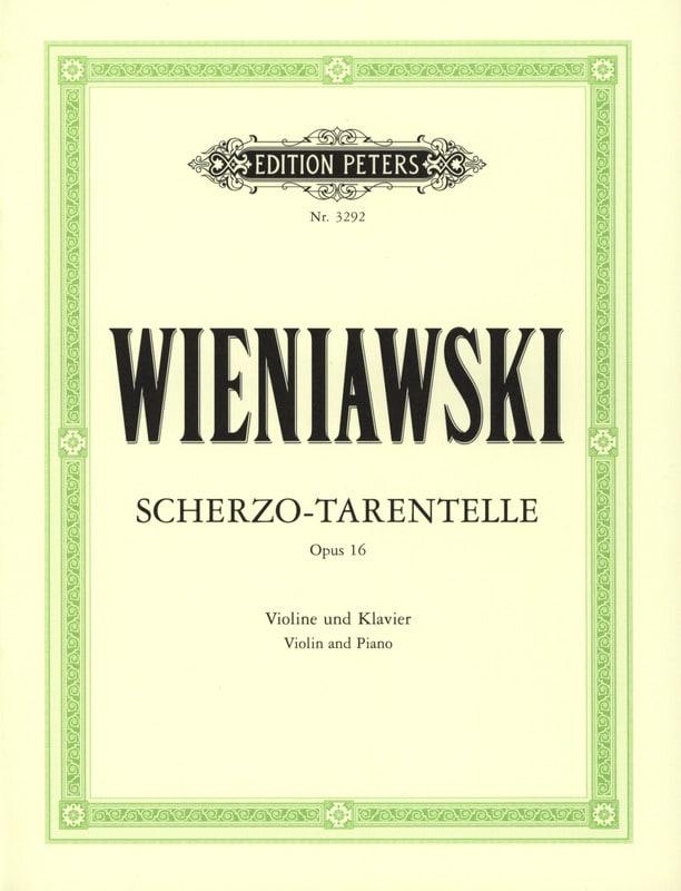 WIENIAWSKI - Scherzo-Tarentella op. 16 - Partition - di-arezzo.co.uk