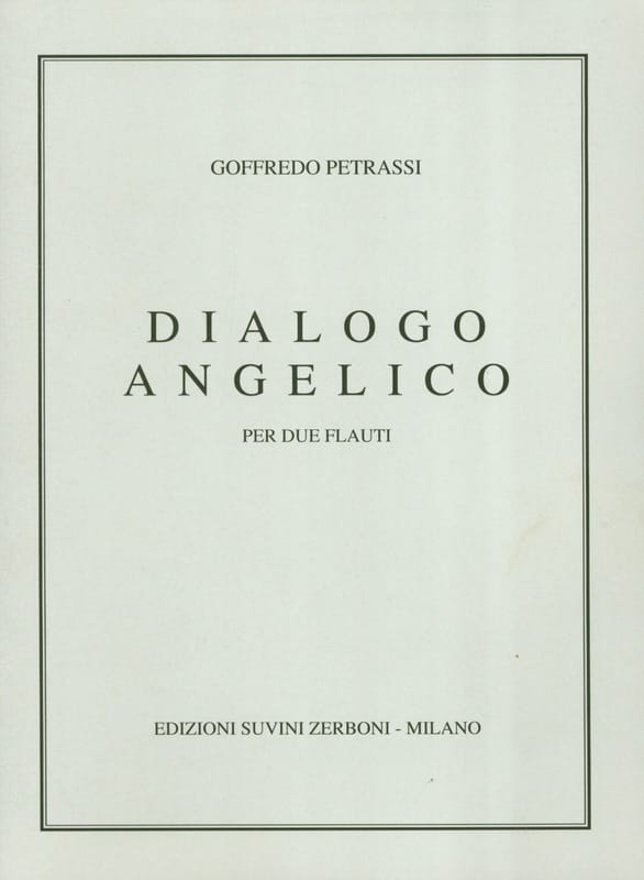 Dialogo Angelico - Goffredo Petrassi - Partition - laflutedepan.com