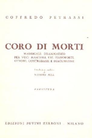 Coro di Morti - Partitura - Goffredo Petrassi - laflutedepan.com