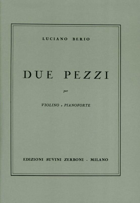 Due Pezzi - BERIO - Partition - Violon - laflutedepan.com