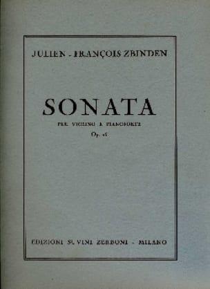 Sonata op. 15 - Julien-François Zbinden - Partition - laflutedepan.com