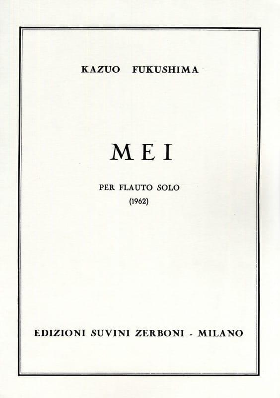 Kazuo Fukushima - Mei - Solo Flauto - Partition - di-arezzo.it