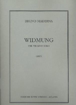 Widmung - Bruno Maderna - Partition - Violon - laflutedepan.com
