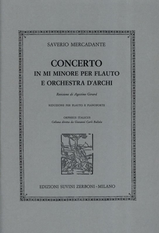 Saverio Mercadante - Concerto in mi minore - piano flute - Partition - di-arezzo.co.uk