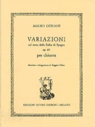Mauro Giuliani - Variazioni op. 45 - Partition - di-arezzo.com