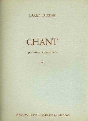 Chant - Carlo Prosperi - Partition - Violon - laflutedepan.com