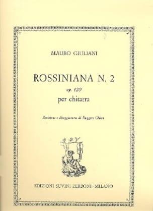 Mauro Giuliani - Rossiniana n ° 2 op. 120 - Partition - di-arezzo.com