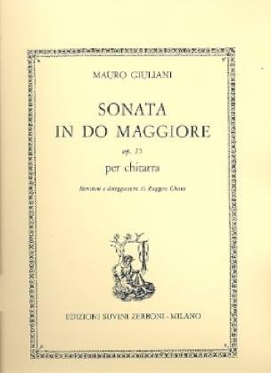 Mauro Giuliani - Sonata in do maggiore op. 15 - Partition - di-arezzo.com