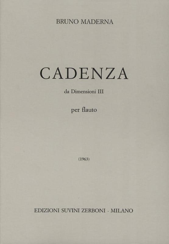 Cadenza da Dimensioni 3 - Bruno Maderna - laflutedepan.com