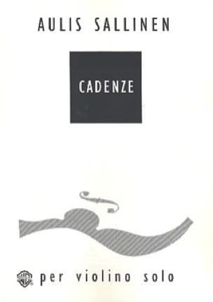 Cadenze - Aulis Sallinen - Partition - Violon - laflutedepan.com