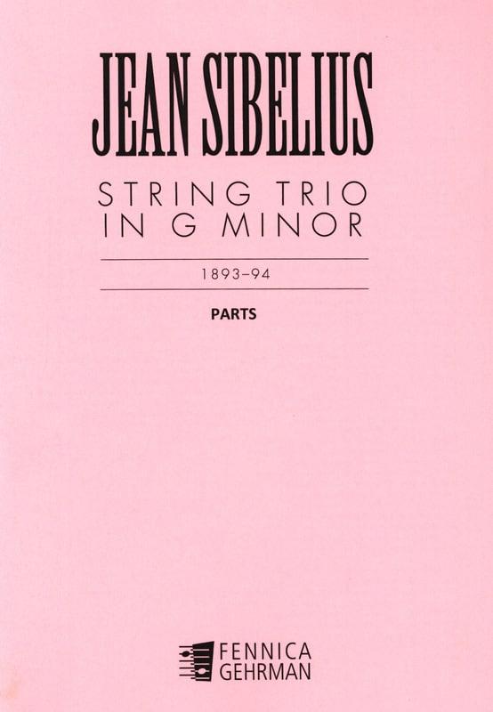 Jean Sibelius - Thong Trio G minor - Parts - Partition - di-arezzo.co.uk