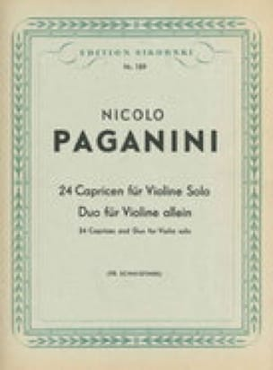 Niccolò Paganini - 24 Capricen und Duo für Violine - Partition - di-arezzo.co.uk