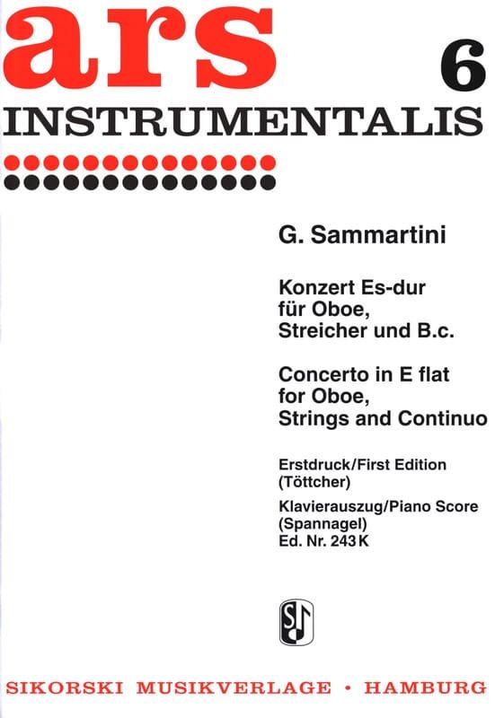 SAMMARTINI - Konzert Es-Dur - Oboe Klavier - Partition - di-arezzo.com