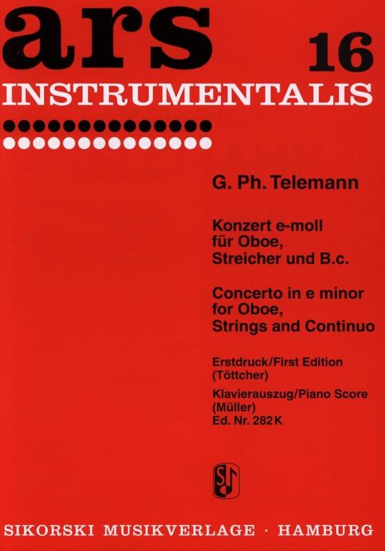 TELEMANN - Konzert e-moll - Oboe Klavier - Partition - di-arezzo.com
