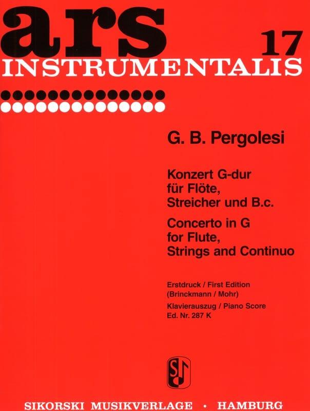Giovanni Battista Pergolesi - Konzert G-Dur - Flöte Klavier - Partition - di-arezzo.es