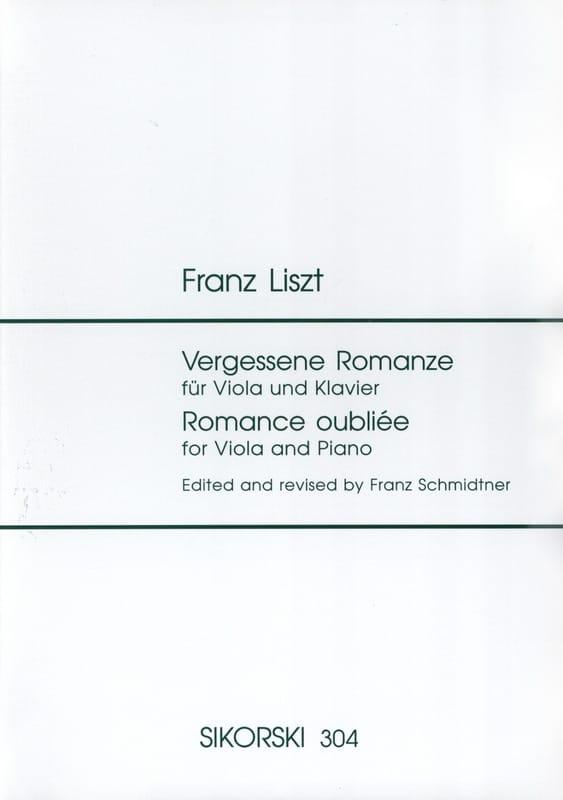 Franz Liszt - Forgotten romance - Partition - di-arezzo.com