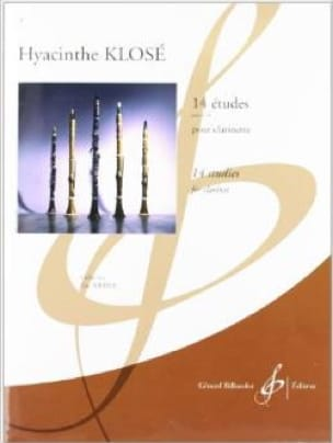 14 Etudes - Clarinette - Hyacinthe Klosé - laflutedepan.com