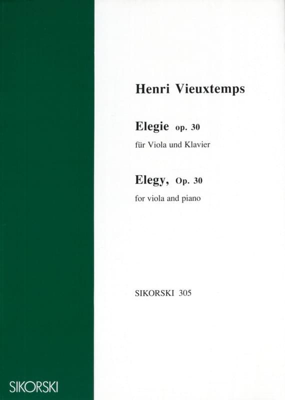 Henri Vieuxtemps - Elegie op. 30 - Partition - di-arezzo.es