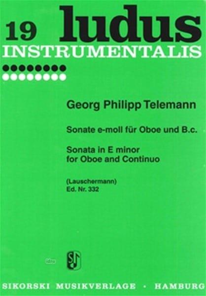 TELEMANN - Sonata e-neck for Oboe und Bc - Partition - di-arezzo.com