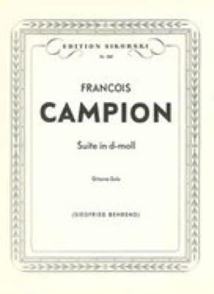 Suite d-moll für Gitarre - François Campion - laflutedepan.com