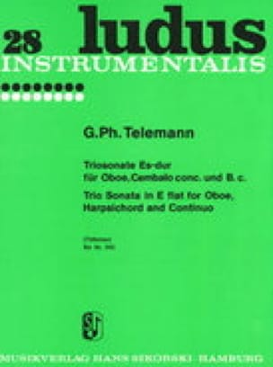 Triosonate Es-Dur - Oboe konzertierendes Cembalo u. Bc - laflutedepan.com