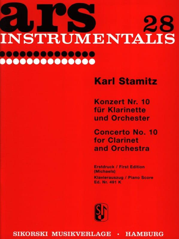 Carl Stamitz - Konzert Nr. 10 B-Dur - Klarinette Klavier - Partition - di-arezzo.co.uk