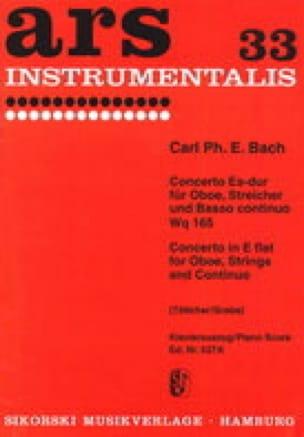 Carl Philipp Emanuel Bach - Konzert Es-Dur Mib M. - Oboe-Piano - Partition - di-arezzo.com