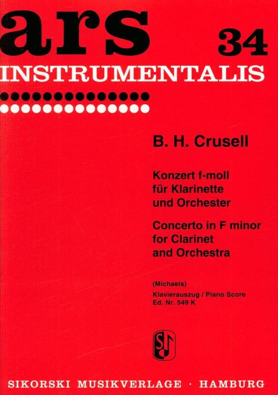 Bernhard Henrik Crusell - Concierto en Fa menor Op. 5 - Partition - di-arezzo.es