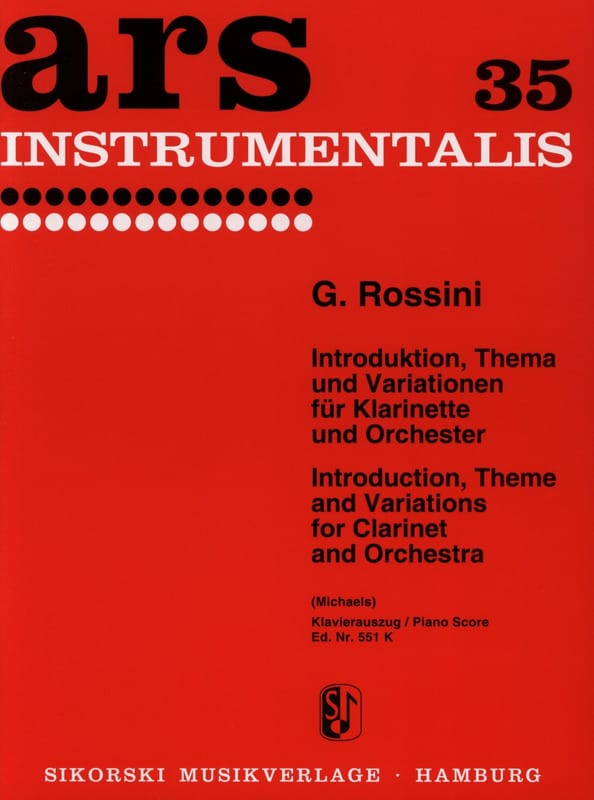 Gioacchino Rossini - Introduktion, Thema und Variationen - Partition - di-arezzo.it