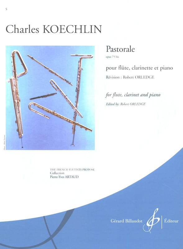 Pastorale op. 75 bis - Charles Koechlin - Partition - laflutedepan.com