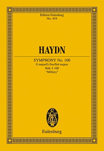 Sinfonie N° 100 G-Dur Militaire - HAYDN - Partition - laflutedepan.com
