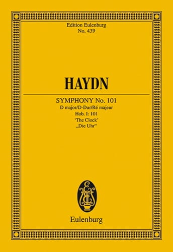 HAYDN - Sinfonie Nr. 101 B-Dur The Clock - Driver - Partition - di-arezzo.co.uk