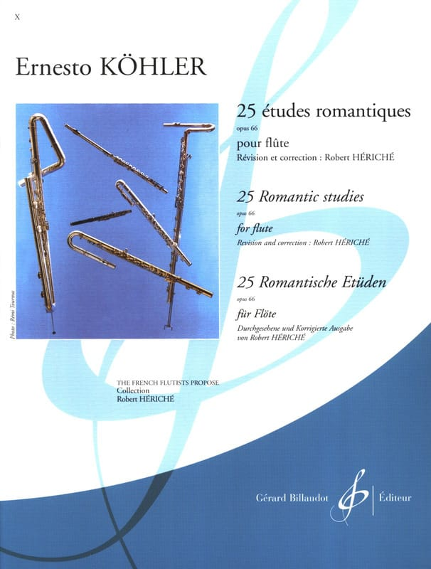 Ernesto KÖHLER - 25 Romantic Studies op. 66 - Partition - di-arezzo.co.uk