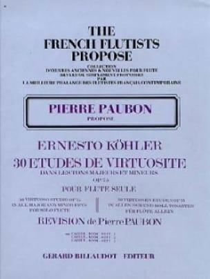 Ernesto KÖHLER - 30 Virtuosity Studies op. 75 - Volume 1 - Partition - di-arezzo.co.uk