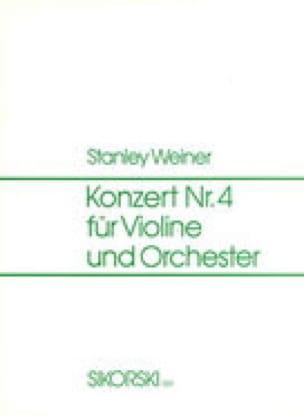 Konzert Nr. 4 op. 54 - Stanley Weiner - Partition - laflutedepan.com
