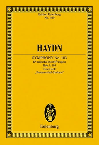 HAYDN - Sinfonie No. 103 Es-Dur Timbolts - Partition - di-arezzo.co.uk