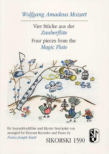 Vier Stücke aus Der Zauberflöte - MOZART - laflutedepan.com
