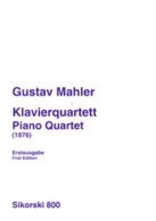 Klavierquartett 1876 -Stimmen - MAHLER - Partition - laflutedepan.com