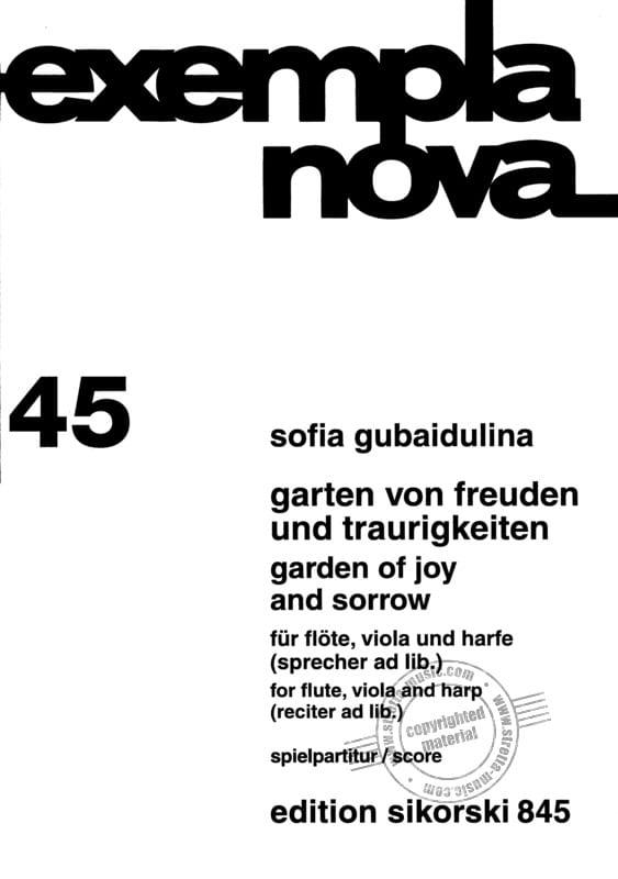 Garten von Freuden und Traurigkeiten -Spielpartitur - laflutedepan.com